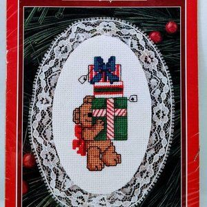 Holiday Time Christmas Lace Ornament Bearing Gifts